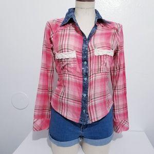Gimmicks by bke button down shirt